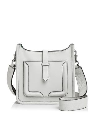 MINI UNLINED LEATHER FEED BAG - WHITE