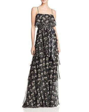 Jill Jill Stuart - Tiered Floral Gown