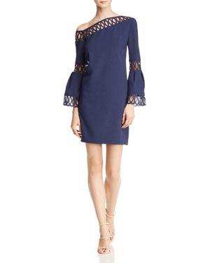 LAUNDRY BY SHELLI SEGAL ASYMMETRIC CUTOUT DRESS