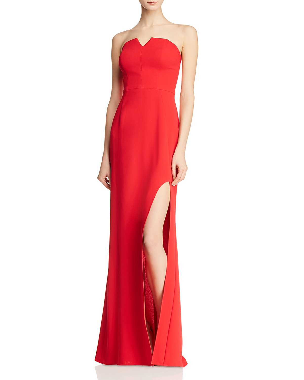 Aqua Bustier Crepe Gown 100 Exclusive Bloomingdales