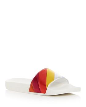 Salvatore Ferragamo - Women's Groove Multicolor Pool Slide Sandals