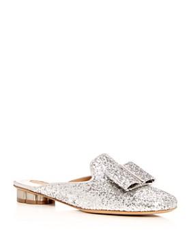 Salvatore Ferragamo - Women's Sciacca Glitter Floral Heel Mules