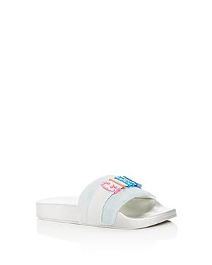 Steve Madden Girls' Jwords Embellished Slide Sandals - Little Kid, Big Kid