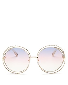 Chloé - Women's Carlina Torsade Oversized Round Sunglasses, 58mm