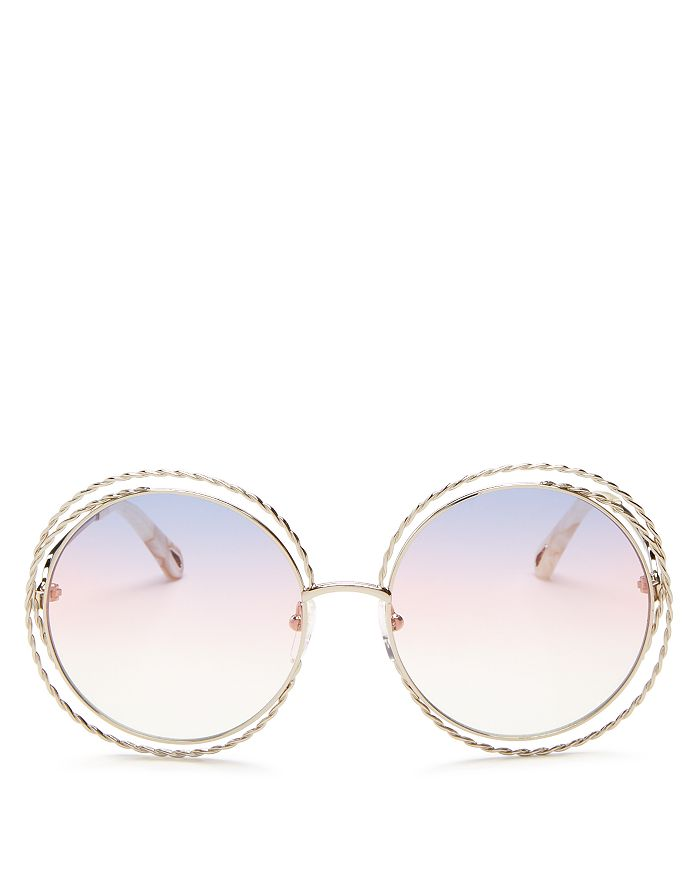 Chloé - Women's Carlina Torsade Oversized Round Sunglasses, 58mm