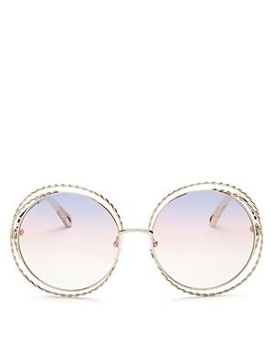 13bdc1812711 ChloÉ Women S Carlina Torsade Oversized Round Sunglasses