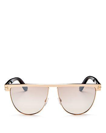53aefb55e290b Tom Ford - Women s Stephanie Mirrored Flat Top Round Sunglasses