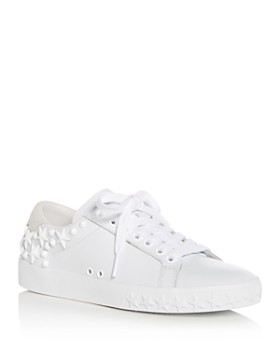 Ash - Women's Dazed Embellished Leather Lace Up Sneakers