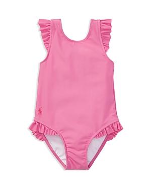 Ralph Lauren Childrenswear Girls' Ruffled Swimsuit - Baby