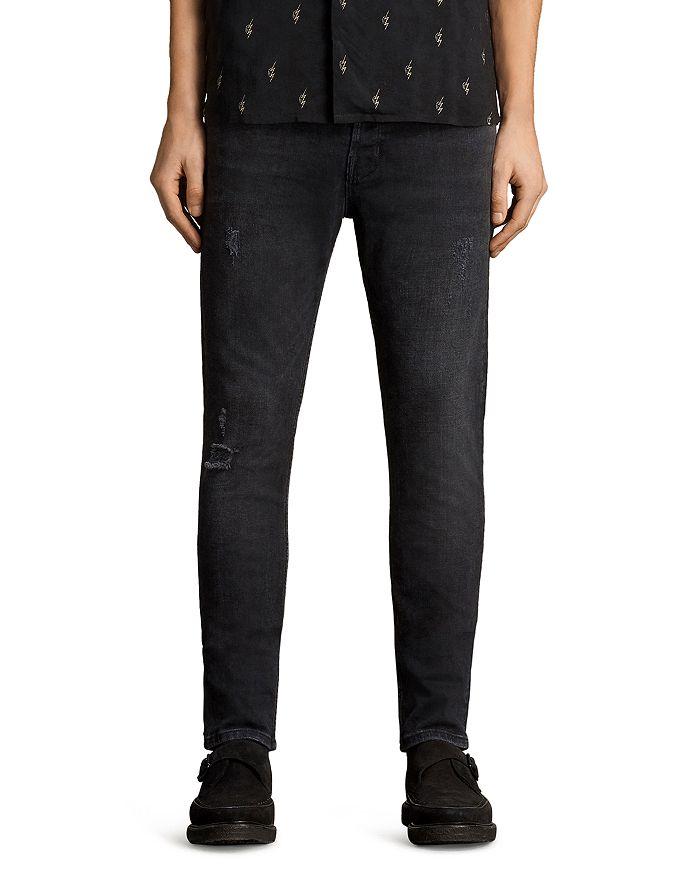 ALLSAINTS - Raveline Cigarette Slim Fit Jeans in Black