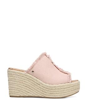 Sam Edelman - Women's Dina Fringed Espadrille Wedge Slide Sandals