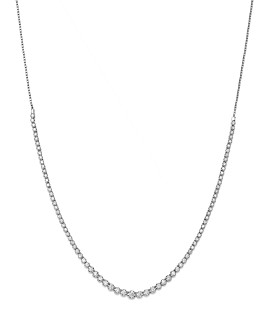 Bloomingdale's - Diamond Graduated Bolo Necklace in 14K White Gold, 2.50 ct. t.w. - 100% Exclusive