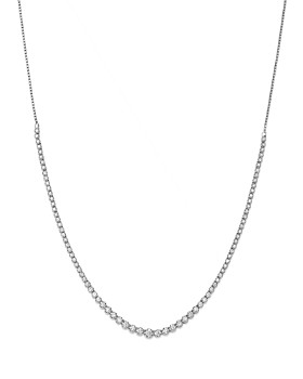 Bloomingdale's - Diamond Graduated Bolo Necklace in 14K White Gold, 2.50 ct. t.w.- 100% Exclusive