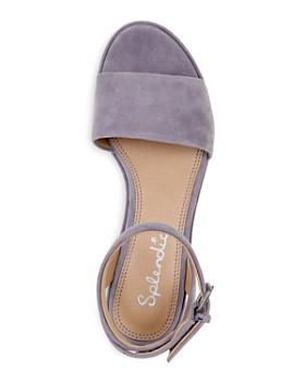 Splendid - Women's Felix Suede Platform Wedge Ankle Strap Sandals