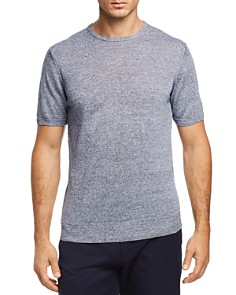 The Men's Store at Bloomingdale's Marled Short Sleeve Crewneck Sweater - 100% Exclusive_0