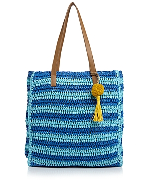 Echo Striped Straw Tote