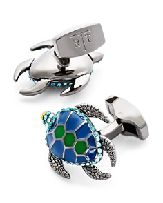 Tateossian Enamel & Crystal Turtle Cufflinks - Bloomingdale's_0