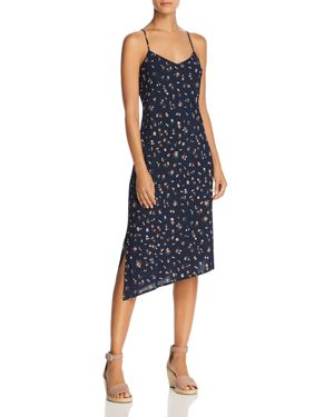 Scarlett Floral Slip Dress in Navy Multi