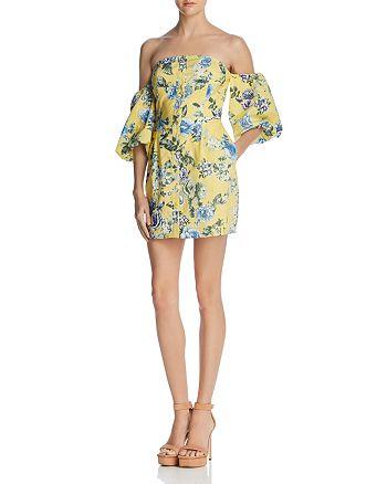 JOA - Balloon Sleeve Off-the-Shoulder Dress