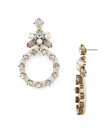 AQUA - Rhinestone Loop Drop Earrings - 100% Exclusive