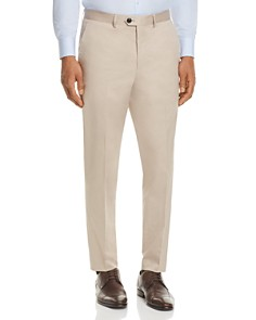 HUGO - Solid Cotton Slim Fit Suit Separate Dress Pants