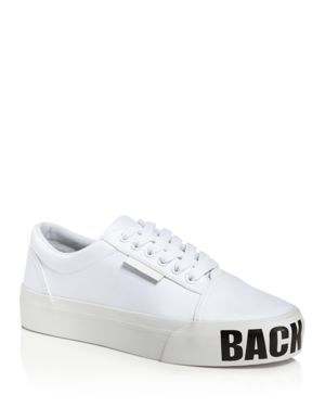 KENDALL AND KYLIE Kendall And Kylie Max Low Top Lace Up Platform Sneakers in White
