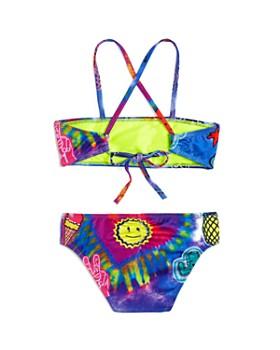 Terez - Girls' Tie-Dye-Patches Print 2-Piece Swimsuit - Little Kid, Big Kid