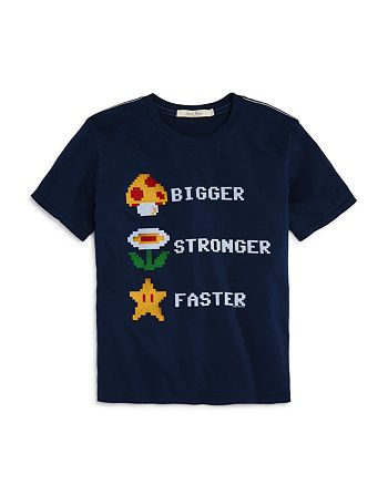 Junk Food - Boys' Bigger Stronger Faster Nintendo Tee, Big Kid - 100% Exclusive
