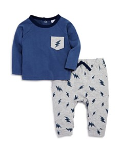 Bloomie's - Boys' Lightning-Print Shirt & Jogger Pants Set, Baby - 100% Exclusive