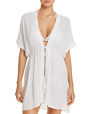 8dec68b03f RALPH LAUREN CRINKLE RAYON DRESS SWIM COVER-UP, WHITE