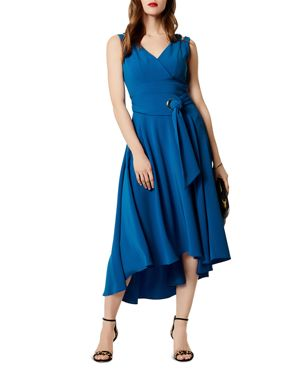 BELTED HIGH/LOW MIDI DRESS