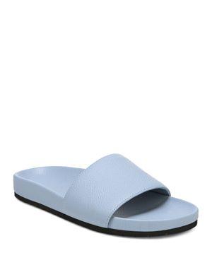 Vince Women's Gavin Leather Pool Slide Sandals 2445713