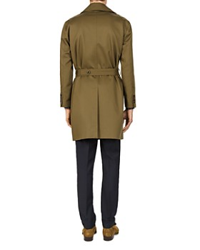 The Kooples - Textured Trench Gabardine Coat