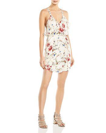 Haute Hippie - Narrow Escape Ruffled Floral-Print Silk Mini Dress