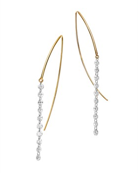AeroDiamonds - 18K Yellow Gold Diamond Streamer Threader Earrings
