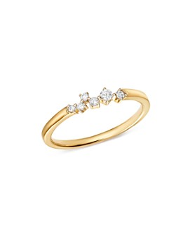 Adina Reyter - 14K Yellow Gold Scattered Diamond Center Ring