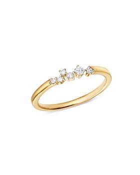 Adina Reyter - 14K Yellow Gold Scattered Diamond Center Ring