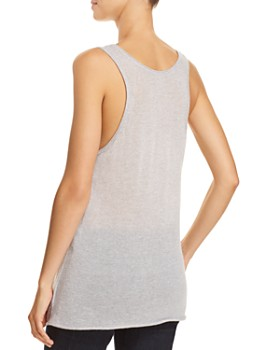 Theory - Double-Trim Cashmere Tank