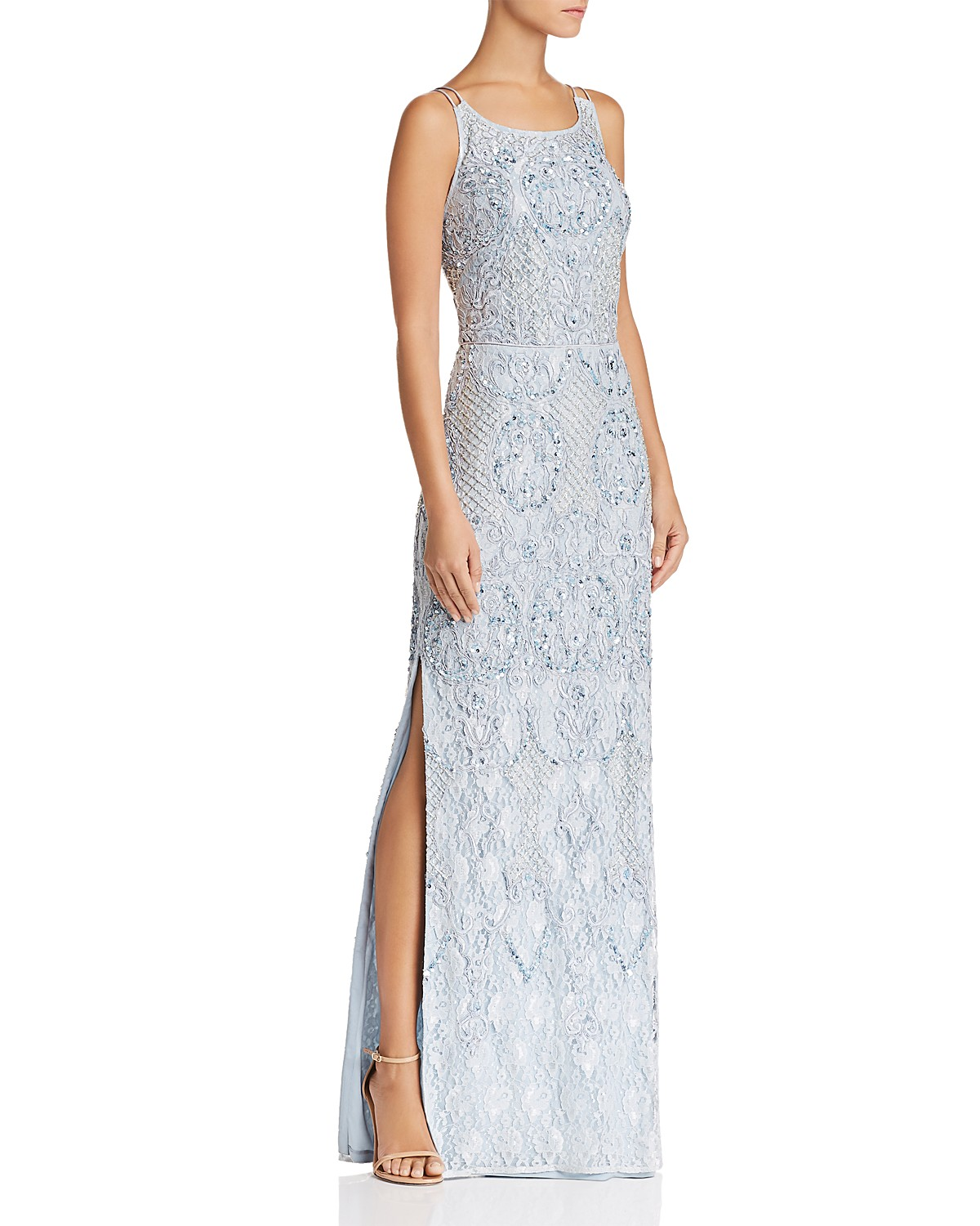 Aidan Mattox Embellished Lace Gown | Bloomingdale\'s