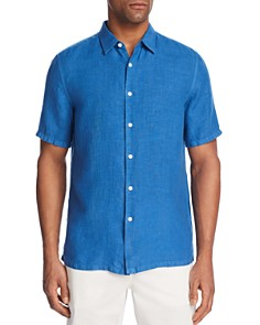 Theory Irving Summer Linen Button-Down Shirt - 100% Exclusive - Bloomingdale's_0