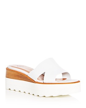 Aquatalia - Women's Tayla Weatherproof Leather Platform Slide Sandals