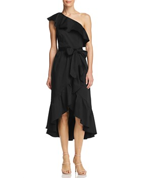 Adrianna Papell - Ruffled One-Shoulder Dress