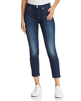 7 For All Mankind - Kimmie Crop Skinny Jeans in Phoenix River - 100% Exclusive