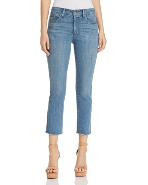 SHERI SLIM FRAYED ANKLE JEANS IN MAXWELL