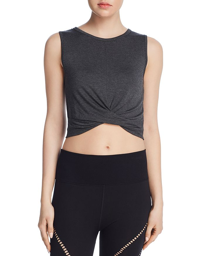 Alo Yoga - Cover Twist-Front Cropped Tank