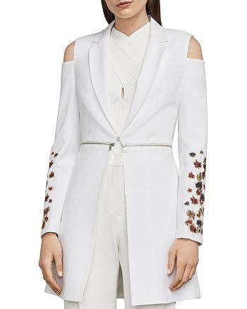 BCBGMAXAZRIA - Sandrah Embroidered Cold-Shoulder Blazer