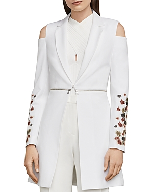 Bcbgmaxazria Sandrah Embroidered Cold-Shoulder Blazer