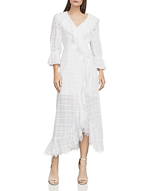 Bcbgmaxazria Cheryl Plaid Midi Wrap Dress