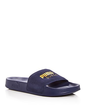 new arrival ad2c6 694dc PUMA Men's Leadcat Suede Slide Sandals | Bloomingdale's