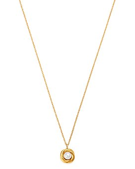 """Bloomingdale's - Cultured Freshwater Pearl Knot Pendant Necklace in 14K Yellow Gold, 18"""" - 100% Exclusive"""